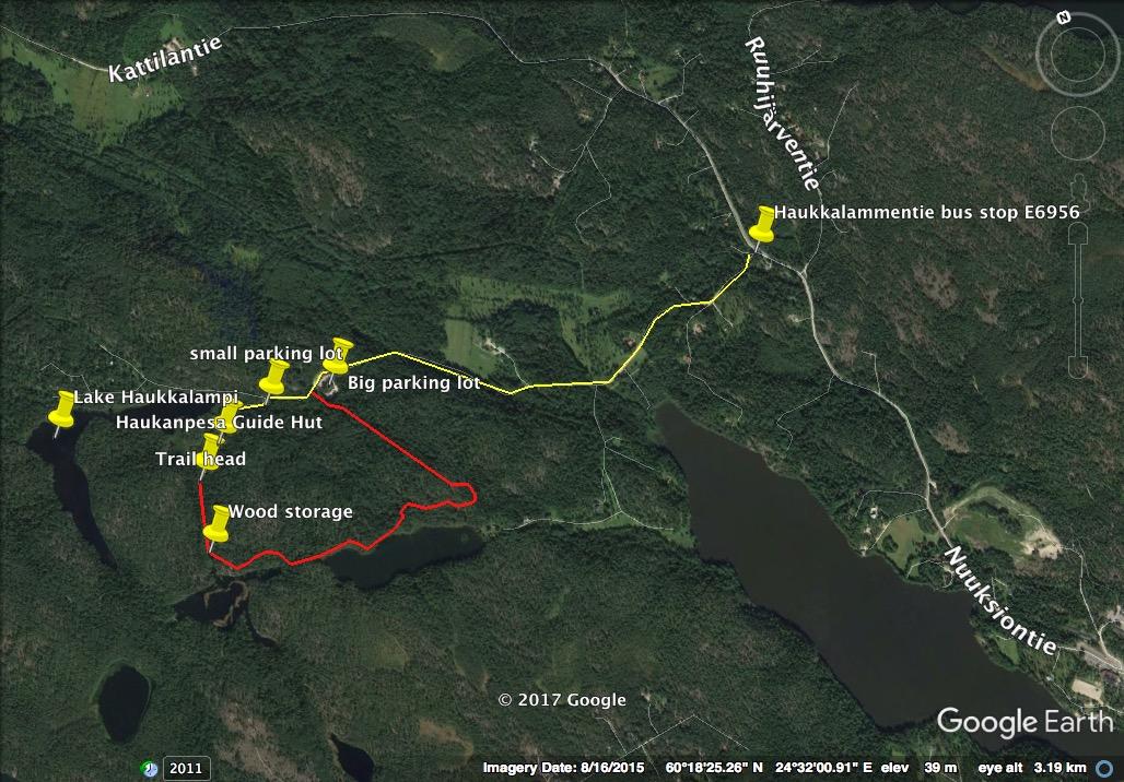 Nuuksio national park Map