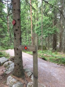 Nuuksio national park Trail Mark
