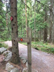 Nuuksio national park Trail Mark
