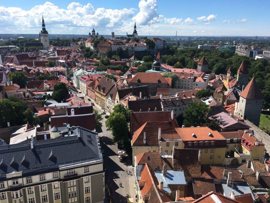 view from tallinn St. Olavs church 1