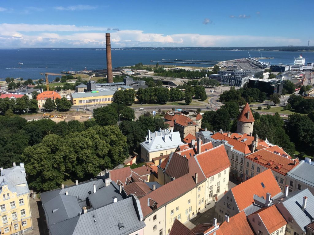 view from tallinn St. Olavs church 3