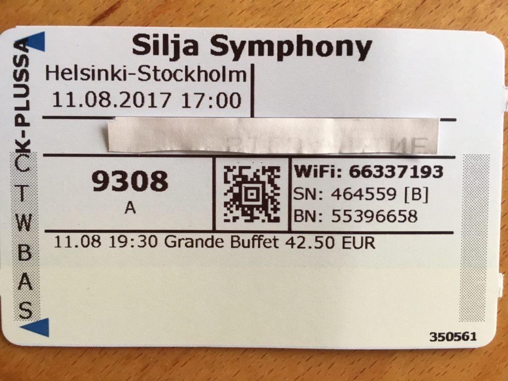 Silja symphony ticket