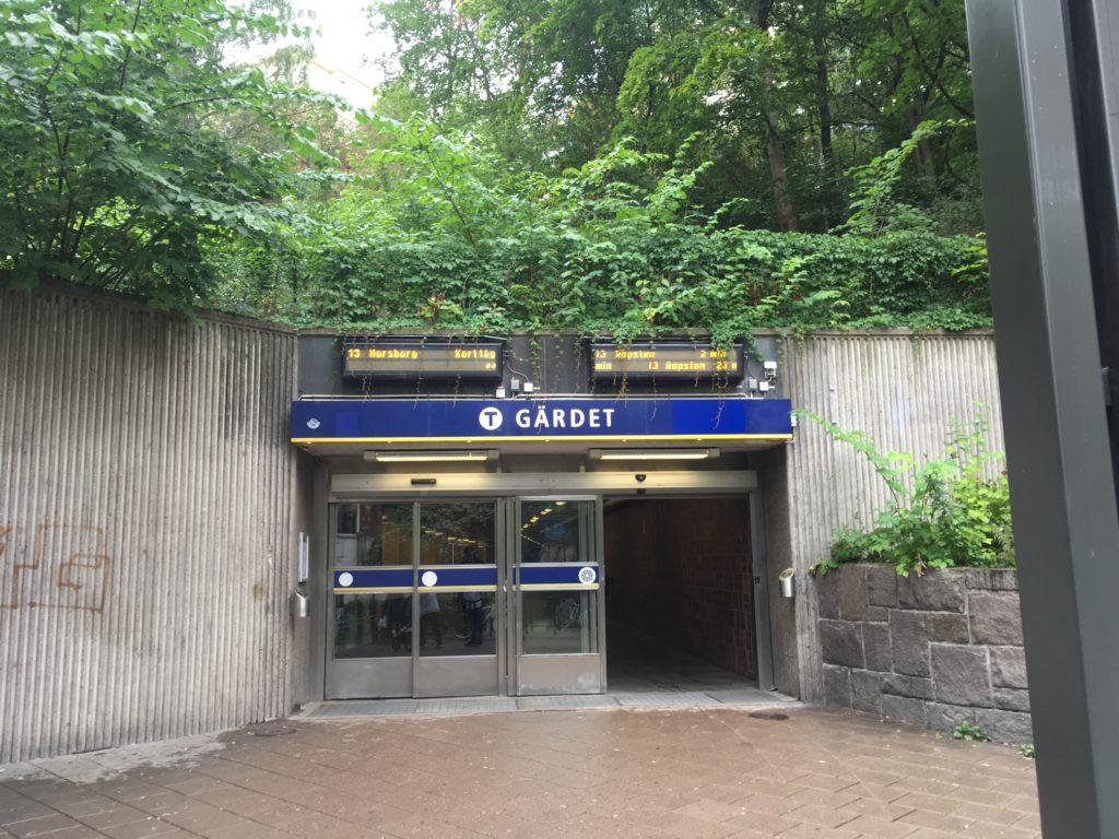 stockholm subway Gardet