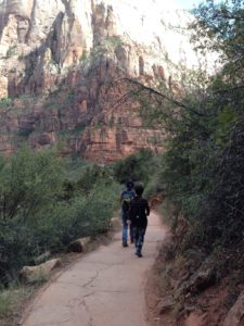 Zion National Park trail