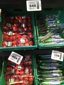 supermarket vegetable price