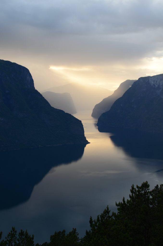 fjord view from Stegastein