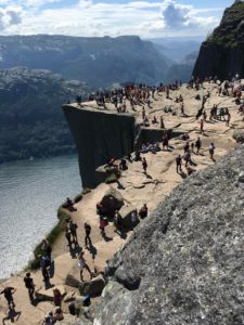 preikestolen from a higher pointi
