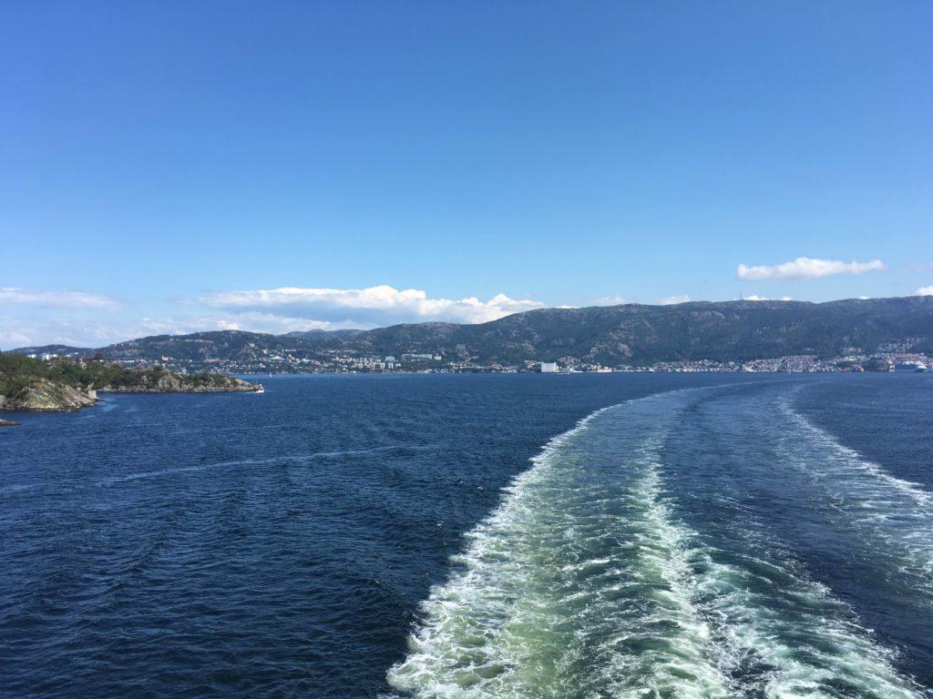 fjordline leaving Bergen