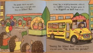 Busy wheels school bus