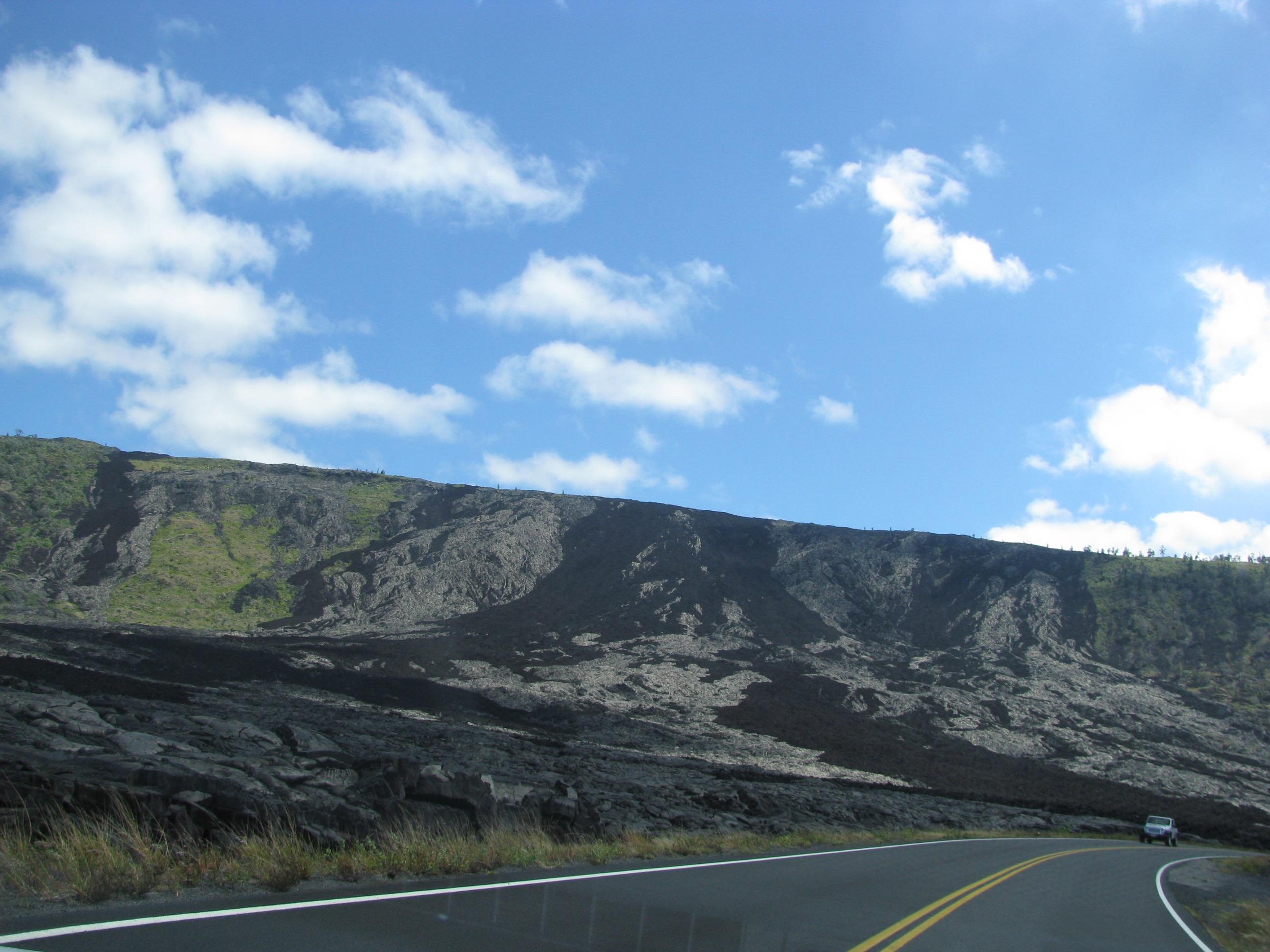 Hawaii volcanoes national park dried lava