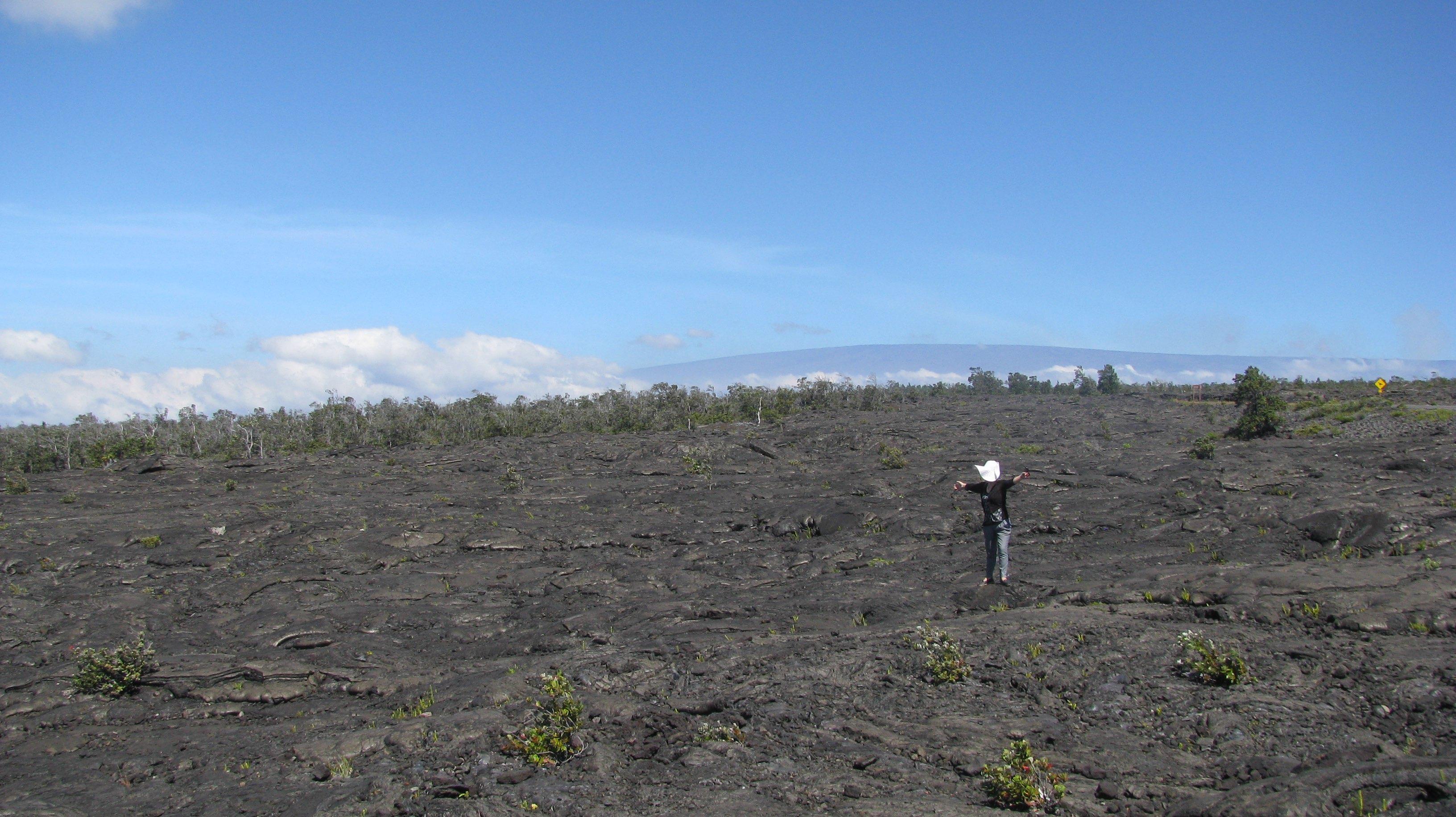 Hawaii volcanoes national park lost land