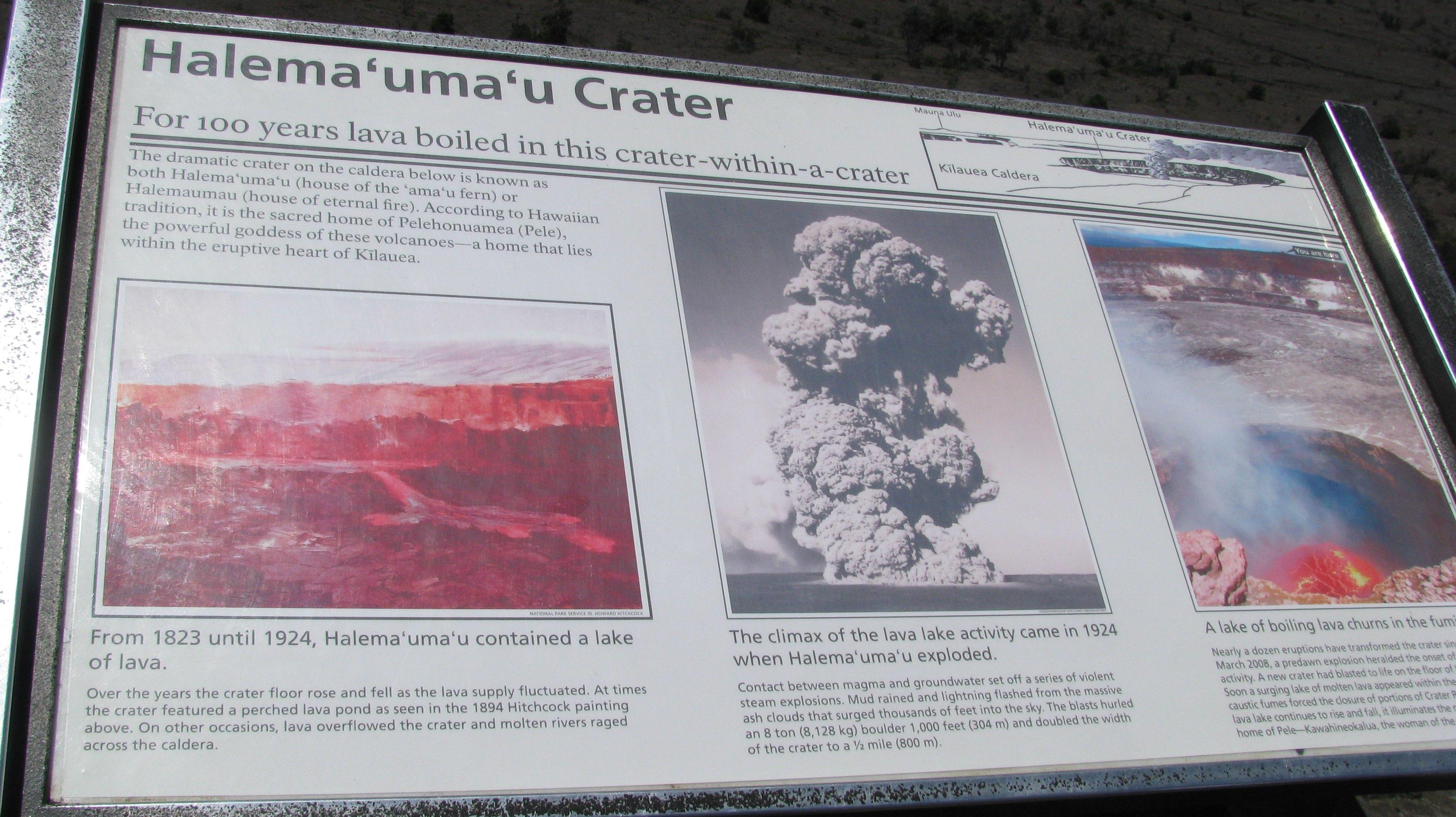 Halema 'uma'u Crater