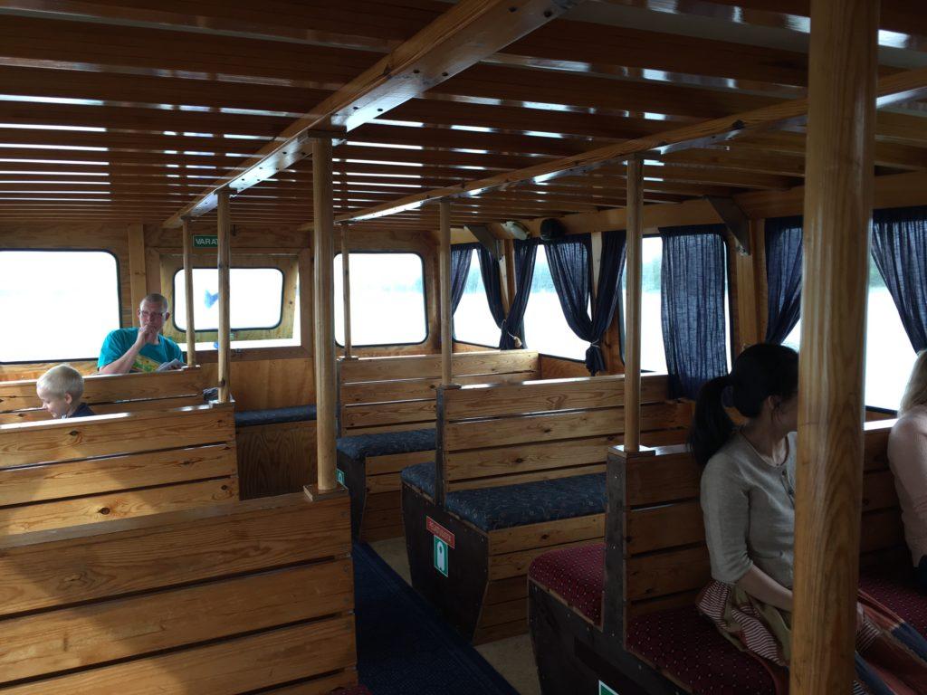 Espoo ferry inside