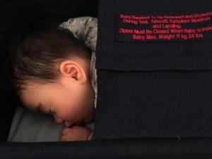 Finnair A350 baby cot