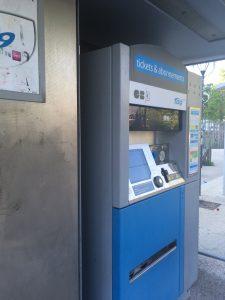 トラム駅のチケット販売機