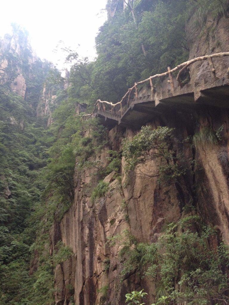 黄山 西海大峡谷の通路