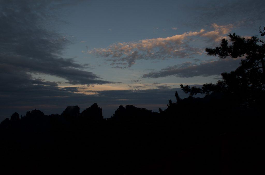 黄山 清涼台の日の出
