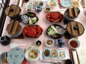 ねむろ海陽亭の夕食