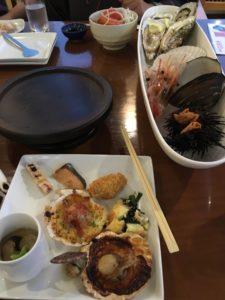 サロマ湖鶴雅リゾートの夕食