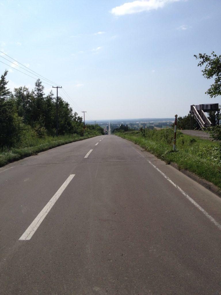 斜里町 天に続く道