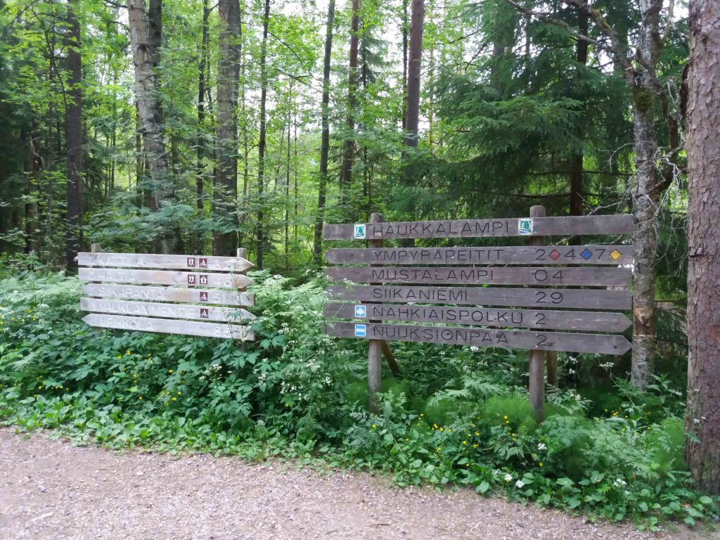 ヌークシオ国立公園 ハイキングコースの看板