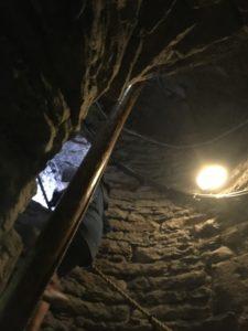 タリン聖オラブ教会の螺旋階段