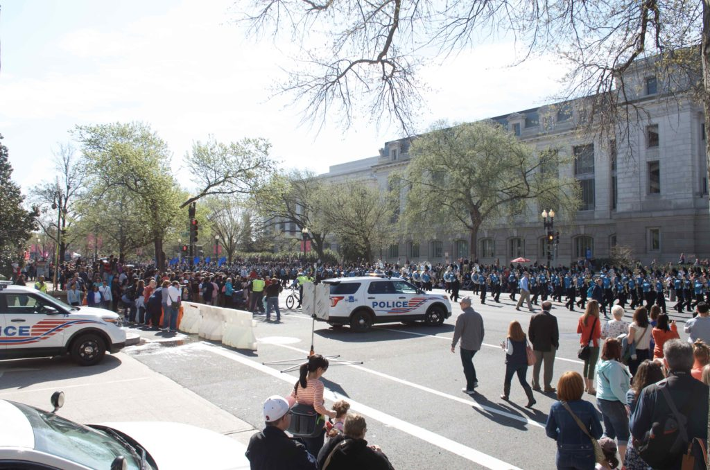 DCの桜祭りのパレード
