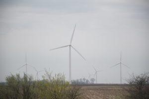 シカゴ郊外の風力発電