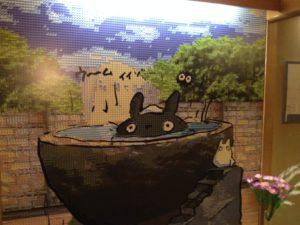 大浴場の近くの絵