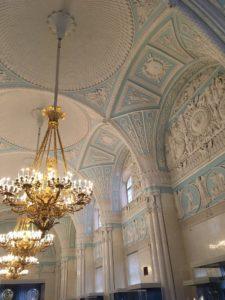 エルミタージュの綺麗な天井