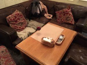 サンクトペテルブルグteploのソファー席