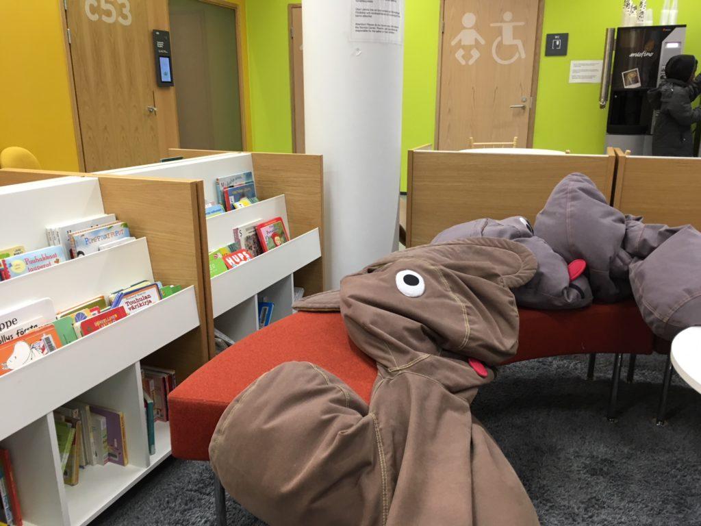 図書館の幼児向け広場