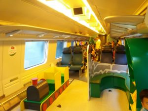 電車内の遊戯コーナー