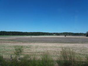 電車からの田園地帯の眺め