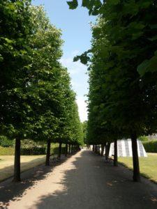 ローゼンボー城の整えられた公園