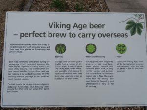 植物園のビール用植物の展示