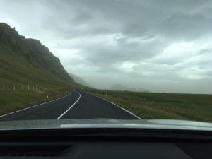 砂嵐の中をドライブ
