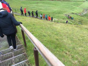 スコゥガフォスの階段