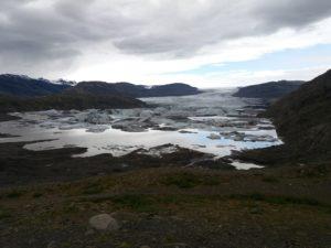 Hoffellsjokullの氷舌