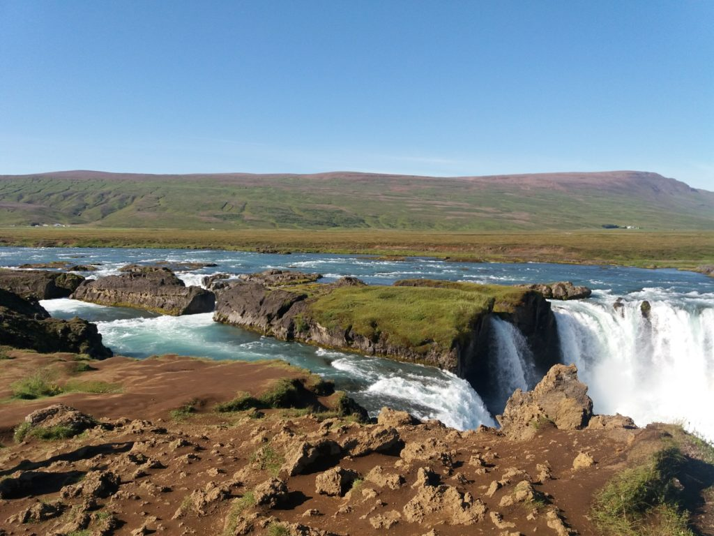 ゴーザフォスを生み出すアイスランドの大地