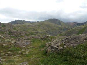 アイスランドの山に分け入って