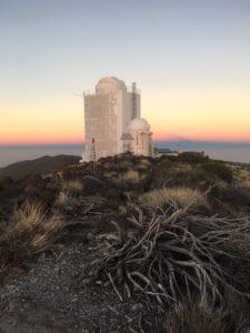天文台日の入り後
