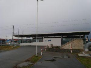 グラーツ空港の電車駅