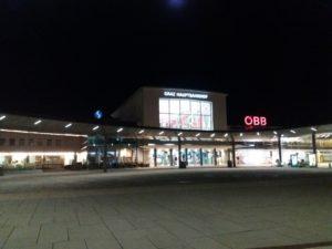 グラーツの朝の中央駅