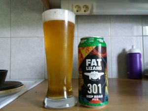 Fat Lizard 301 hop road lager