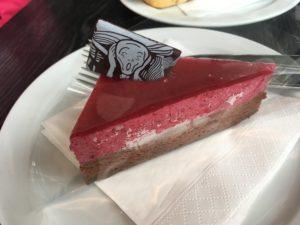 ムンク美術館のムンクケーキ