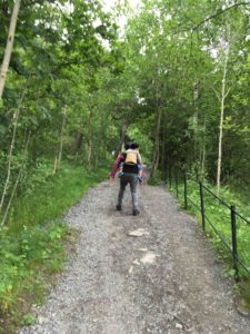 Ekebergparken公園を登る