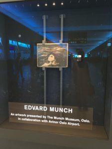 オスロ空港のムンクの絵