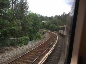 ノルウェーの森を抜ける電車