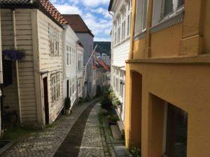 ベルゲンの町の細道